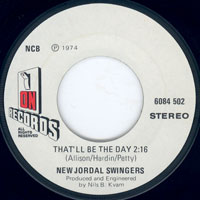 New Jordal Swingers - That'll be the day / Personality